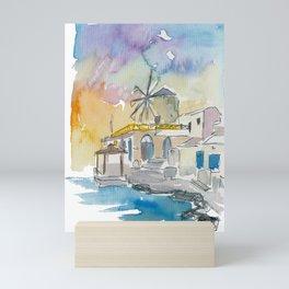 Santorini Therassia Lonely Island in Greece Mini Art Print