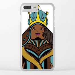 Queen (Turquoise) Clear iPhone Case