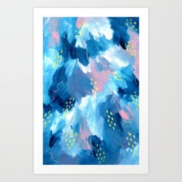 Blue Aesthetic #1 Art Print