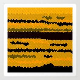 Gold fish coat Art Print