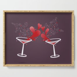 Martini. Love drink. Serving Tray