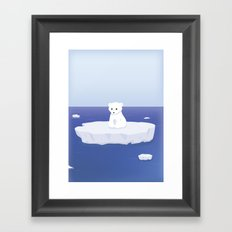 A lonely bear Framed Art Print
