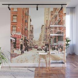 New York City Snow Soho Wall Mural