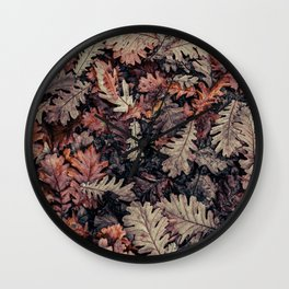 Autumn Leaves - HD Nature Textures Wall Clock