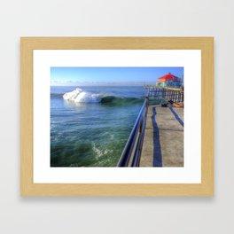 Southside Bowl Huntington Beach Pier Framed Art Print