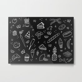 Food Love Metal Print