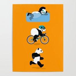 Panda Triathlon Poster