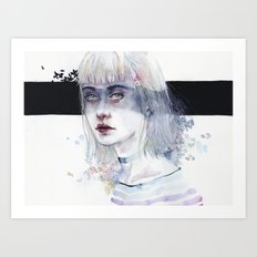 Blindfolded Goddess Art Print