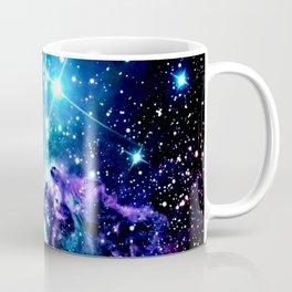 Fox Fur Nebula Turquoise Blue Purple Black Coffee Mug