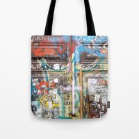 door Tote Bags featuring DOOR by  ECOLARTE