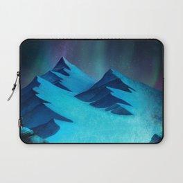 Aurora Borealis In The Mountain Pass Laptop Sleeve