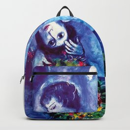 Marc Chagall, Le Paisage Bleu 1949 Artwork, Posters Tshirts Prints Bags Men Women Kids Backpack