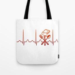 CHEF HEARTBEAT Tote Bag