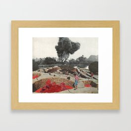 Red Blooded Planet Framed Art Print