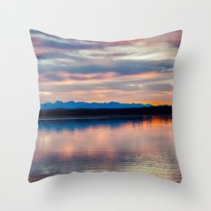 EVENING GLORY Throw Pillow