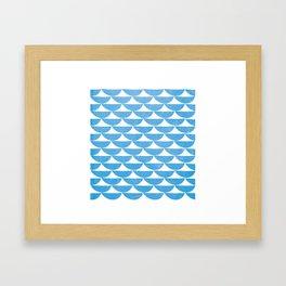 white tents Framed Art Print