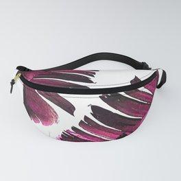 Banana Leaf - Tropical Leaf Print - Botanical Art - Modern Abstract - Violet, Purple, Magenta, Lilac Fanny Pack