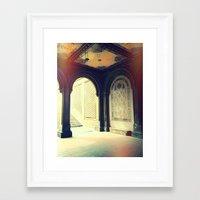 gossip girl Framed Art Prints featuring Bethesda Fountain Gossip Girl by b4lt1m0re