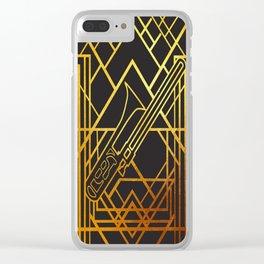 Art Deco Basun Clear iPhone Case