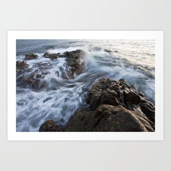 Stones at the beach Art Print
