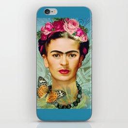 FRIDA Y MARIPOSA iPhone Skin