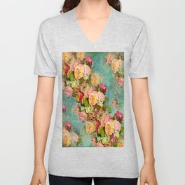 ROSES SO ROMANTIC Unisex V-Neck