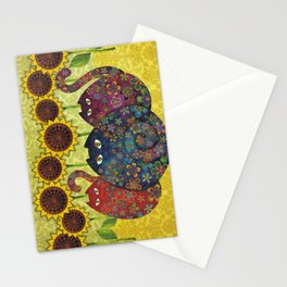 Cats & Sunflowers Stationery Cards