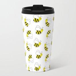 Bumble Bee Pattern Travel Mug