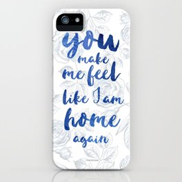 LOVESONG ROSES BLUE iPhone Case