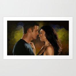 Star crossed lovers Art Print