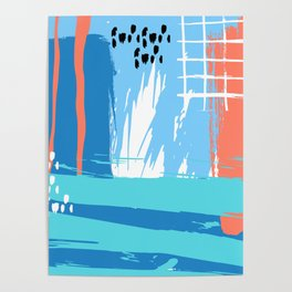 Abstract Blue Grunge Poster