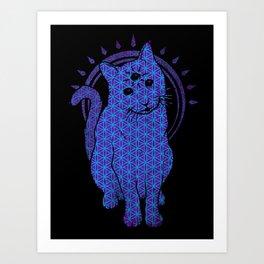 Trippy Cat: 4 Art Print