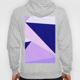 Modern geometric navy blue lilac lavender pink triangles Hoody