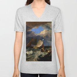"J.M.W. Turner ""Calais Pier"" Unisex V-Neck"