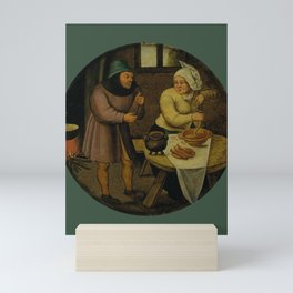 """Pieter Brueghel II (The Younger) """"A woman making sausages"""" Mini Art Print"""