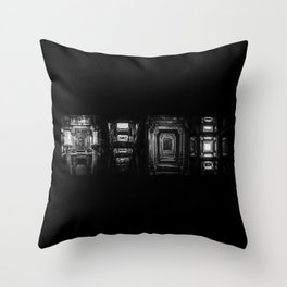 Indian Step Well Composition #1 Throw Pillow