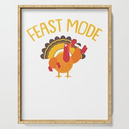 Feast Mode Turkey Weight Lifting Funny Thanksgiving Serving Tray