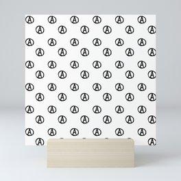 Symbol of anarchy bw 2 Mini Art Print