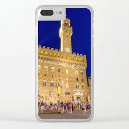 View of the Palazzo Vecchio Clear iPhone Case