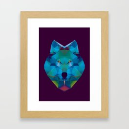 Wolf Crystallize 02 Framed Art Print