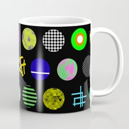 Eclectic Circles - Abstract collage of random, colourful, bold, eclectic circles Coffee Mug
