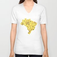 brazil V-neck T-shirts featuring Brazil by Ursula Rodgers