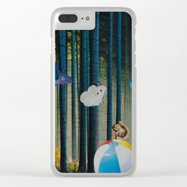 Juguemos en el bosque Clear iPhone Case