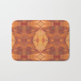 Wild orange pattern design Bath Mat