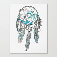 dream catcher Canvas Prints featuring Dream Catcher by Huebucket