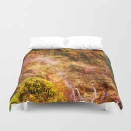 Moody waterfall Duvet Cover