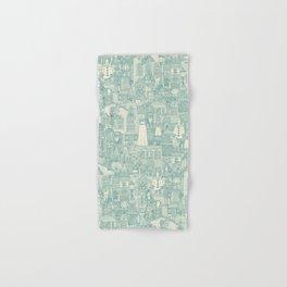 vintage halloween teal ivory Hand & Bath Towel