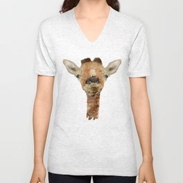 little giraffe Unisex V-Neck