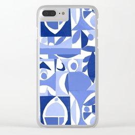 tango in blue ... Clear iPhone Case