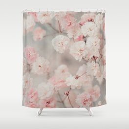 Gypsophila pink blush Shower Curtain